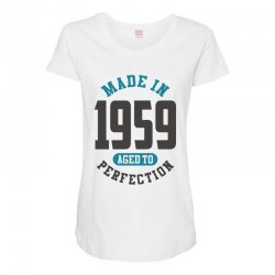 Made in 1959 Maternity Scoop Neck T-shirt | Artistshot