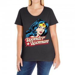 wonder woman face Ladies Curvy T-Shirt | Artistshot