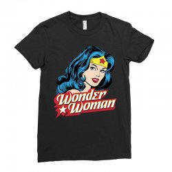 wonder woman face Ladies Fitted T-Shirt | Artistshot