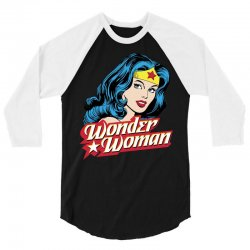 wonder woman face 3/4 Sleeve Shirt | Artistshot