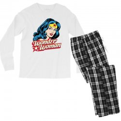 wonder woman face Men's Long Sleeve Pajama Set | Artistshot