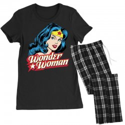 wonder woman face Women's Pajamas Set | Artistshot