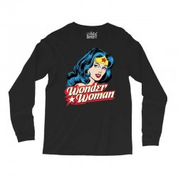 wonder woman face Long Sleeve Shirts | Artistshot
