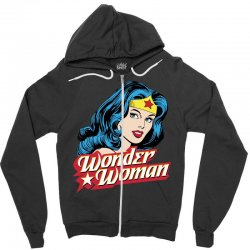 wonder woman face Zipper Hoodie | Artistshot