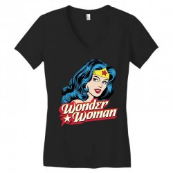 wonder woman face Women's V-Neck T-Shirt | Artistshot