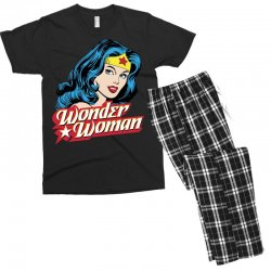 wonder woman face Men's T-shirt Pajama Set | Artistshot