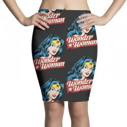 wonder woman face Pencil Skirts | Artistshot