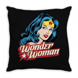 wonder woman face Throw Pillow | Artistshot