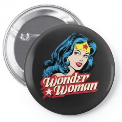 wonder woman face Pin-back button | Artistshot