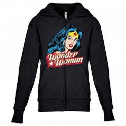 wonder woman face Youth Zipper Hoodie | Artistshot
