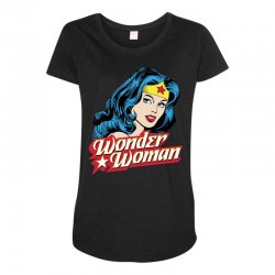 wonder woman face Maternity Scoop Neck T-shirt | Artistshot