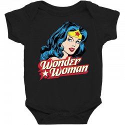 wonder woman face Baby Bodysuit | Artistshot