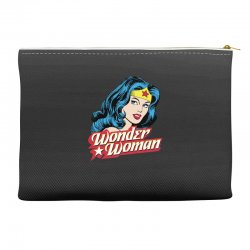 wonder woman face Accessory Pouches | Artistshot
