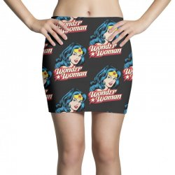 wonder woman face Mini Skirts | Artistshot