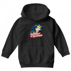 wonder woman face Youth Hoodie | Artistshot