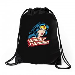 wonder woman face Drawstring Bags | Artistshot
