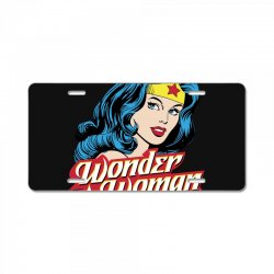wonder woman face License Plate | Artistshot