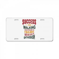 Motivation for success License Plate | Artistshot