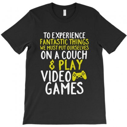 Video Games Geek And Gamer T-shirt Designed By Vanode Art