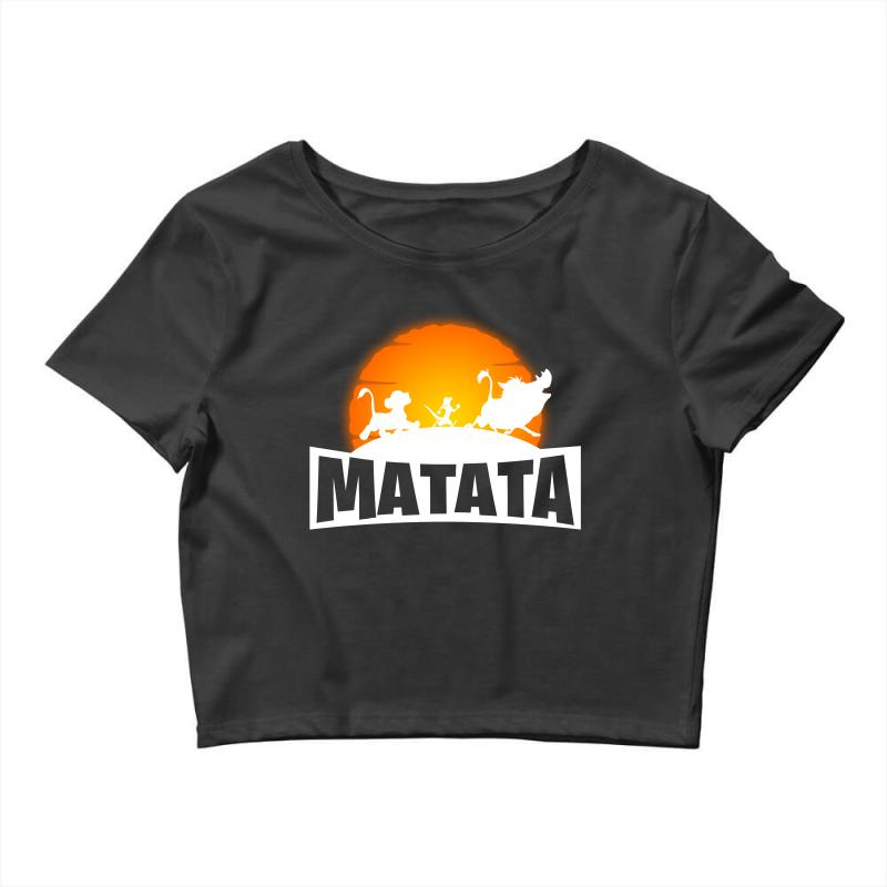 Matata Fortnite For Dark Crop Top | Artistshot