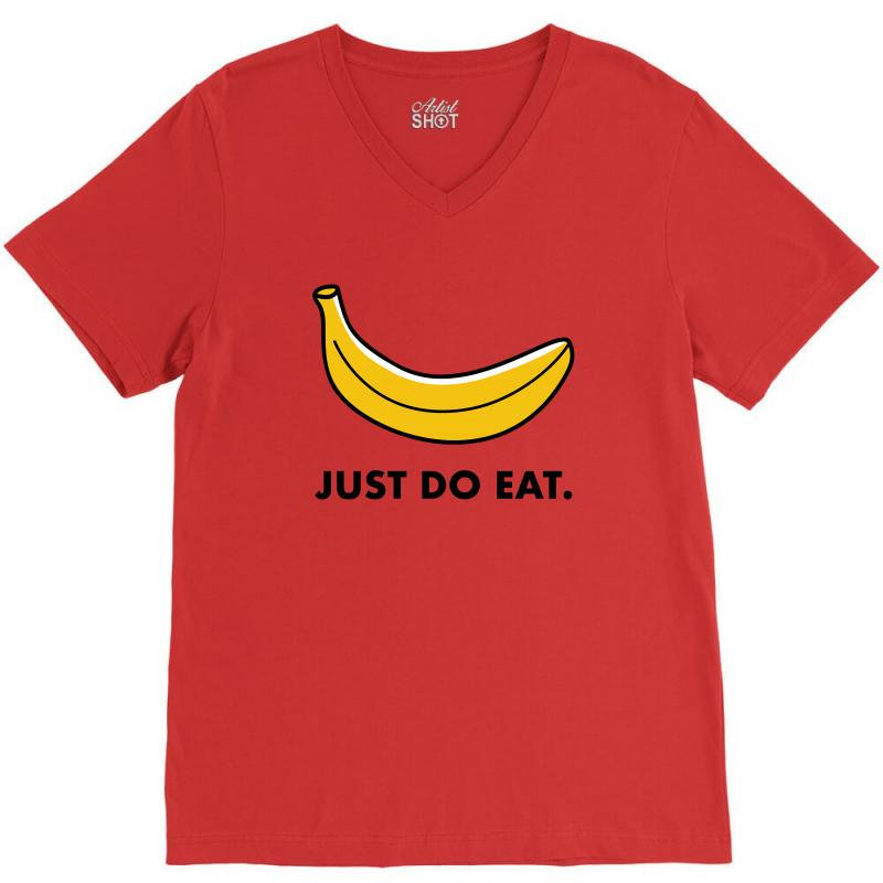 Just To Eat For Light V-neck Tee | Artistshot