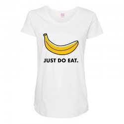 just to eat for light Maternity Scoop Neck T-shirt | Artistshot