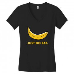 just to eat for dark Women's V-Neck T-Shirt | Artistshot