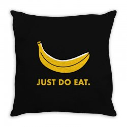just to eat for dark Throw Pillow | Artistshot