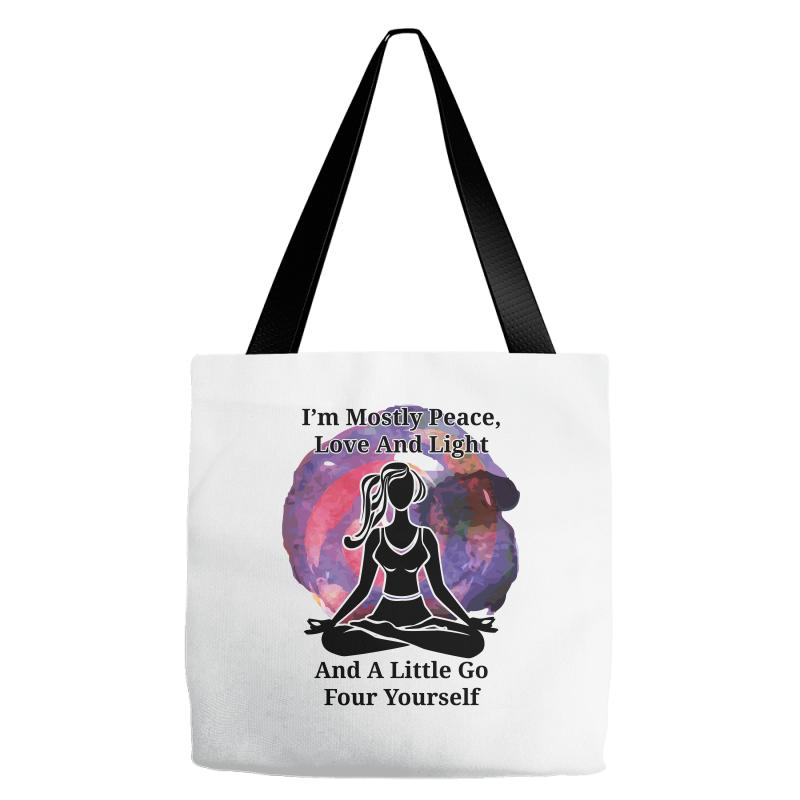 I'm Mostly Peace For Light Tote Bags | Artistshot