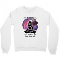 i'm mostly peace for light Crewneck Sweatshirt | Artistshot