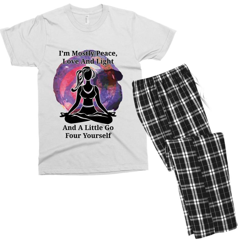 I'm Mostly Peace For Light Men's T-shirt Pajama Set | Artistshot