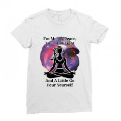 i'm mostly peace for light Ladies Fitted T-Shirt | Artistshot