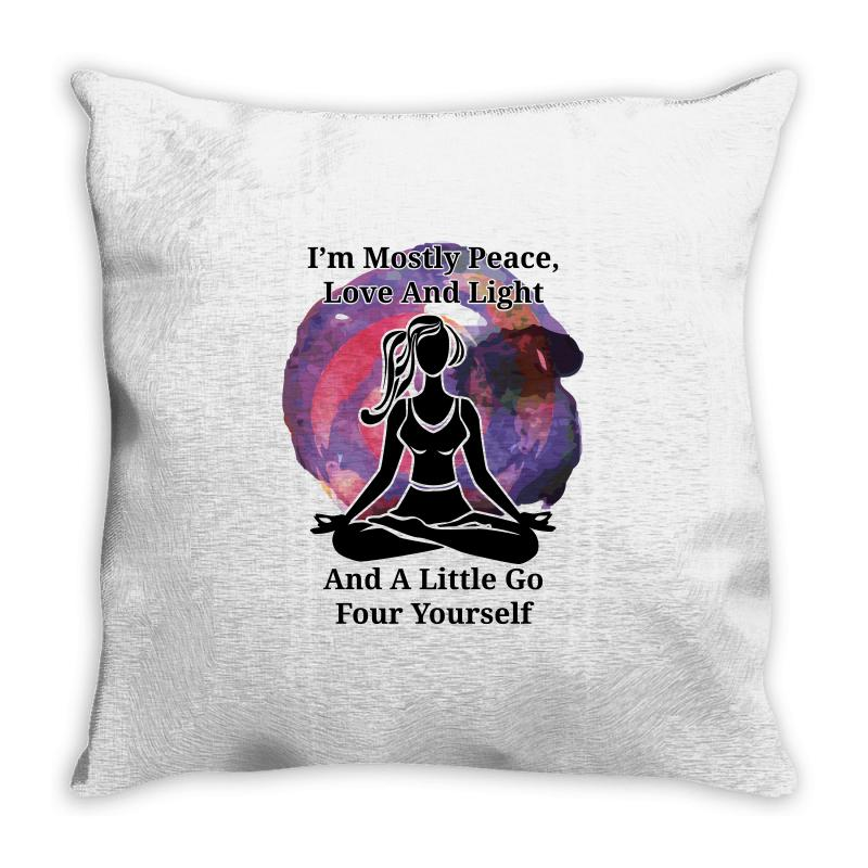 I'm Mostly Peace For Light Throw Pillow | Artistshot
