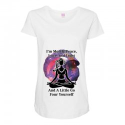 i'm mostly peace for light Maternity Scoop Neck T-shirt | Artistshot