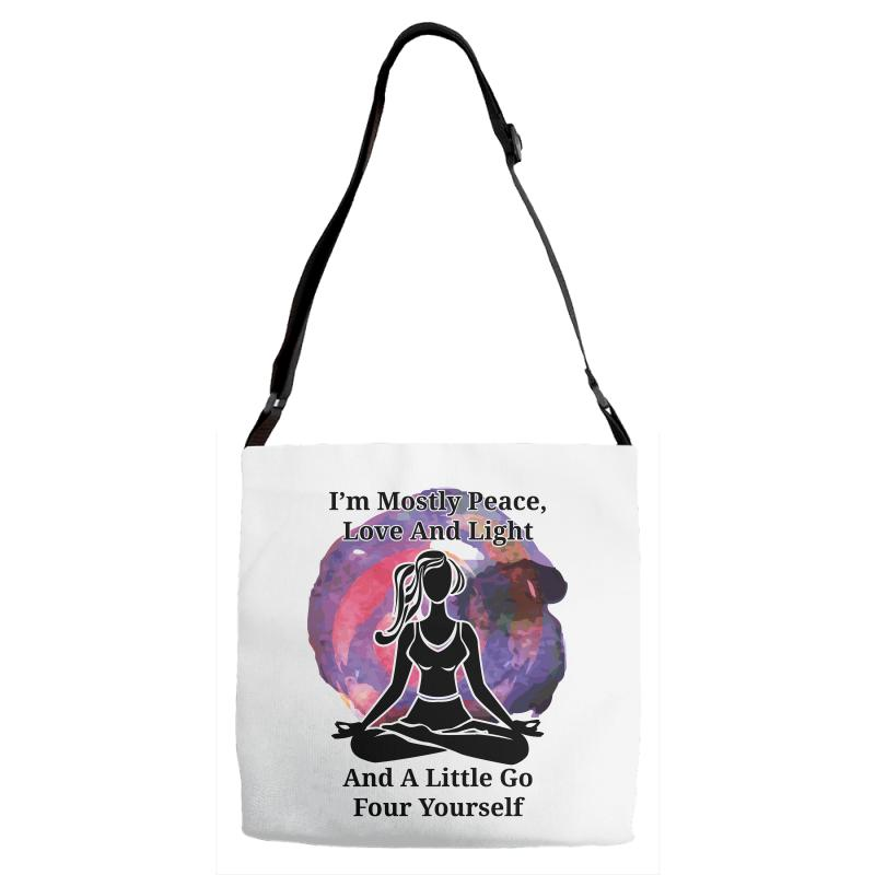 I'm Mostly Peace For Light Adjustable Strap Totes | Artistshot