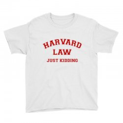 harvard law just kidding for light Youth Tee | Artistshot