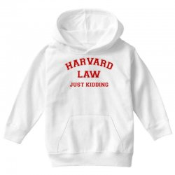 harvard law just kidding for light Youth Hoodie | Artistshot