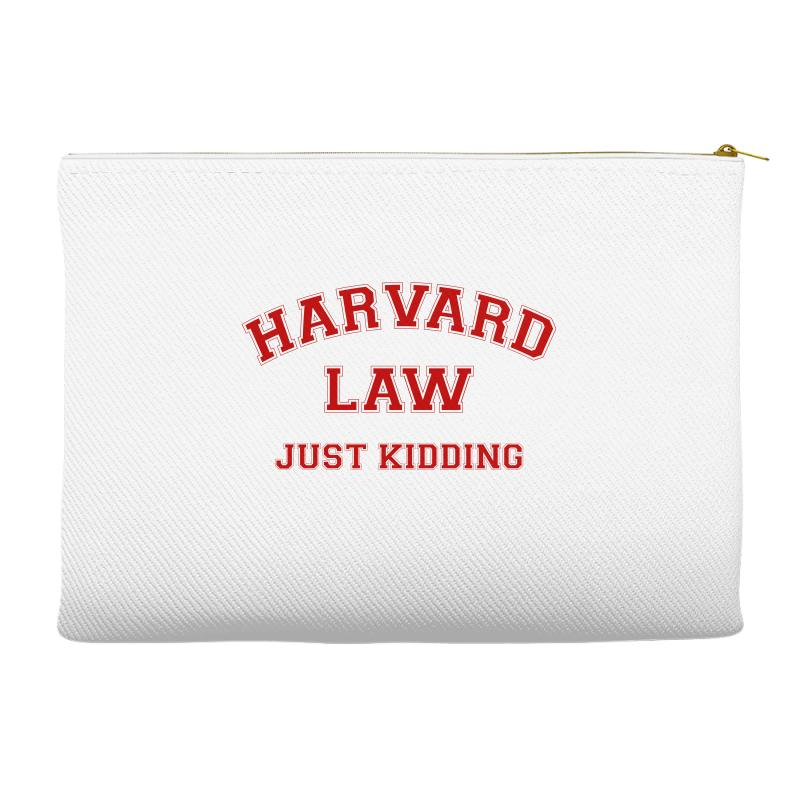 Harvard Law Just Kidding For Light Accessory Pouches | Artistshot