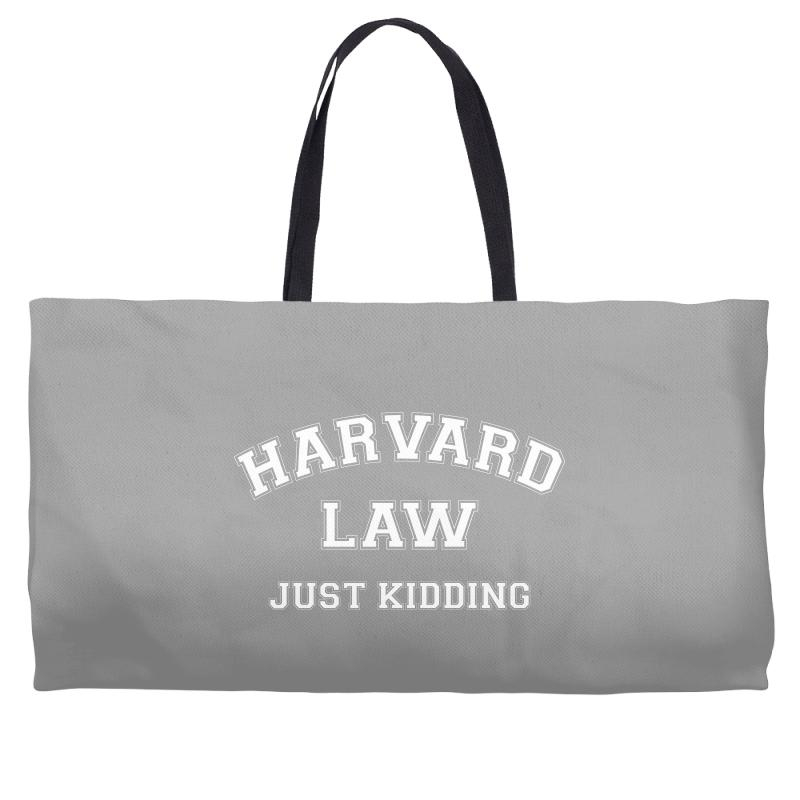 Harvard Law Just Kidding For Dark Weekender Totes | Artistshot