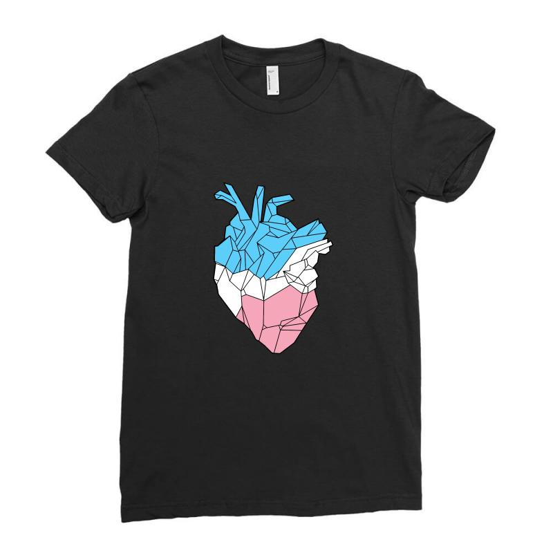 Trans Heart Ladies Fitted T-shirt | Artistshot