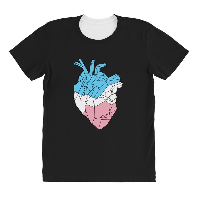 Trans Heart All Over Women's T-shirt | Artistshot
