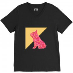 geometric doggy V-Neck Tee | Artistshot
