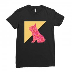 geometric doggy Ladies Fitted T-Shirt | Artistshot