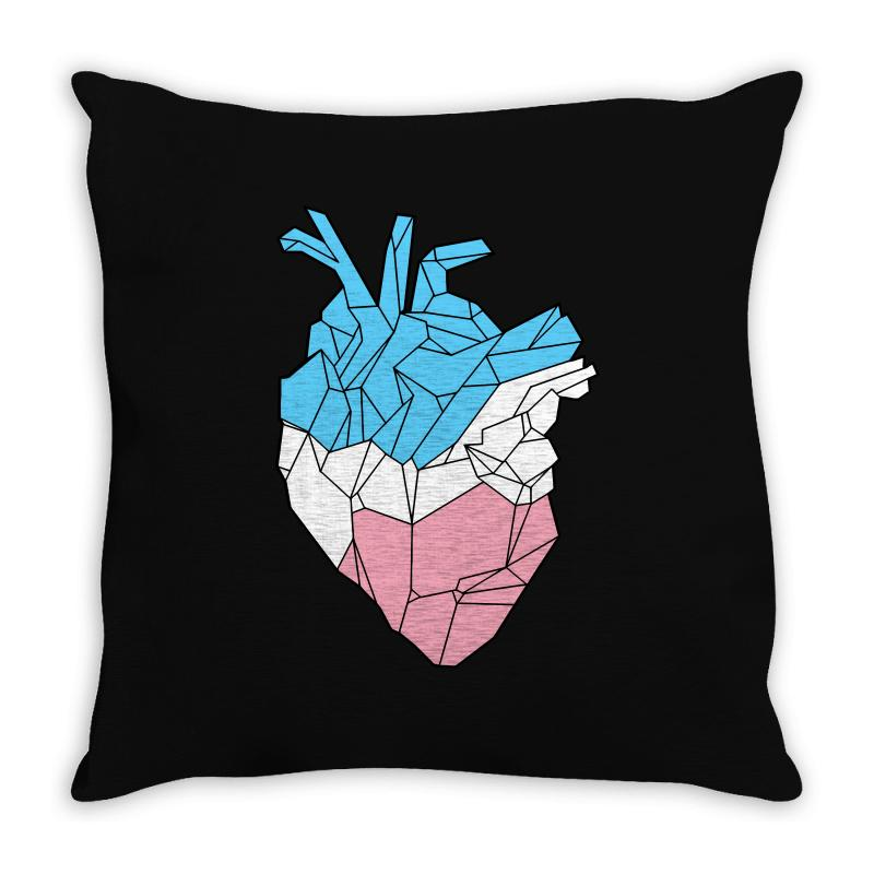 Trans Heart Throw Pillow | Artistshot