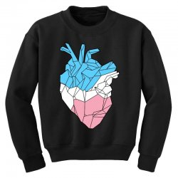 trans heart Youth Sweatshirt | Artistshot