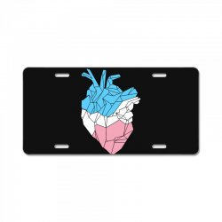trans heart License Plate | Artistshot