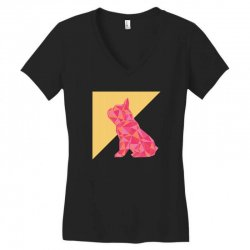 geometric doggy Women's V-Neck T-Shirt | Artistshot