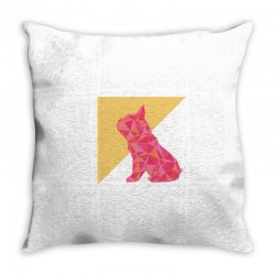 geometric doggy Throw Pillow | Artistshot