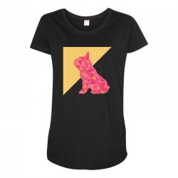 geometric doggy Maternity Scoop Neck T-shirt | Artistshot