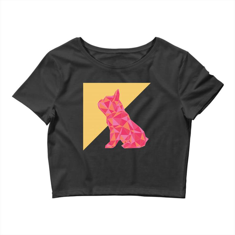 Geometric Doggy Crop Top | Artistshot